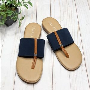 Espirit Nifty Toe Post Slide Sandals - Size 8M